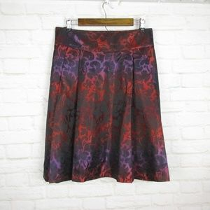 Lane Bryant size 22 Red and Purple Cheetah Skirt